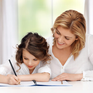 mother-child-girl-school-learning